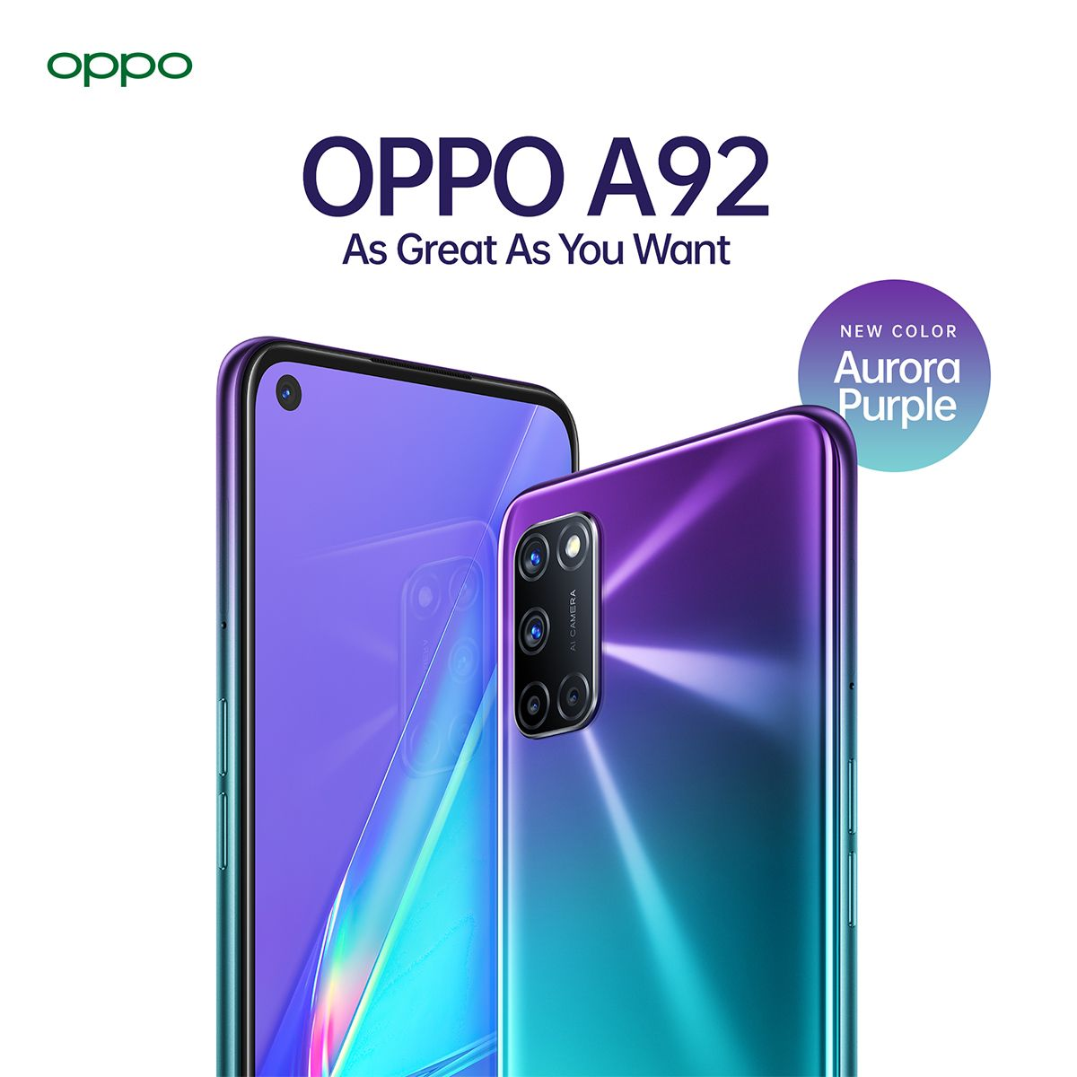 OPPO A92 Aurora Purple
