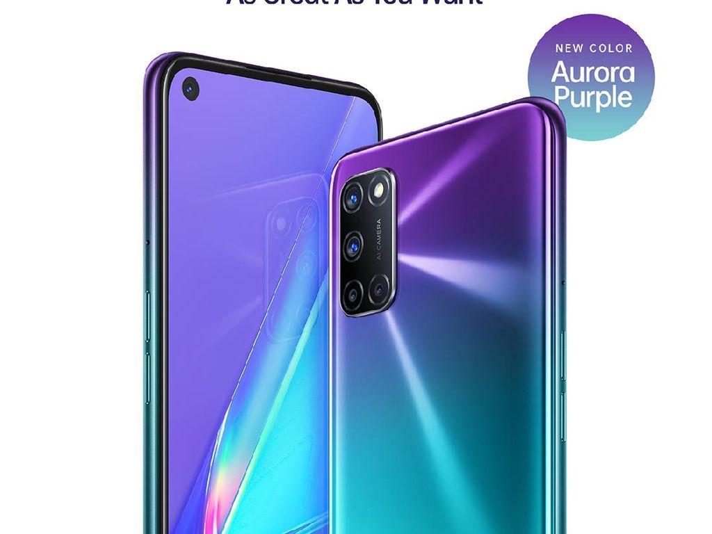 First Sale OPPO A92 Aurora Purple: Ada Cashback hingga Bonus Kuota