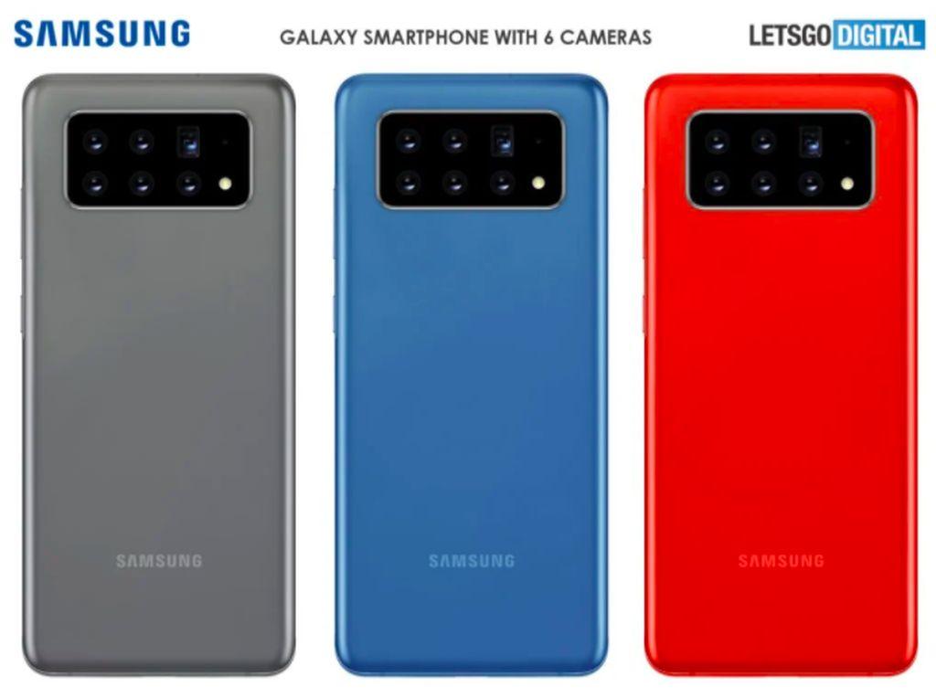 Samsung Patenkan Ponsel 6 Kamera Belakang