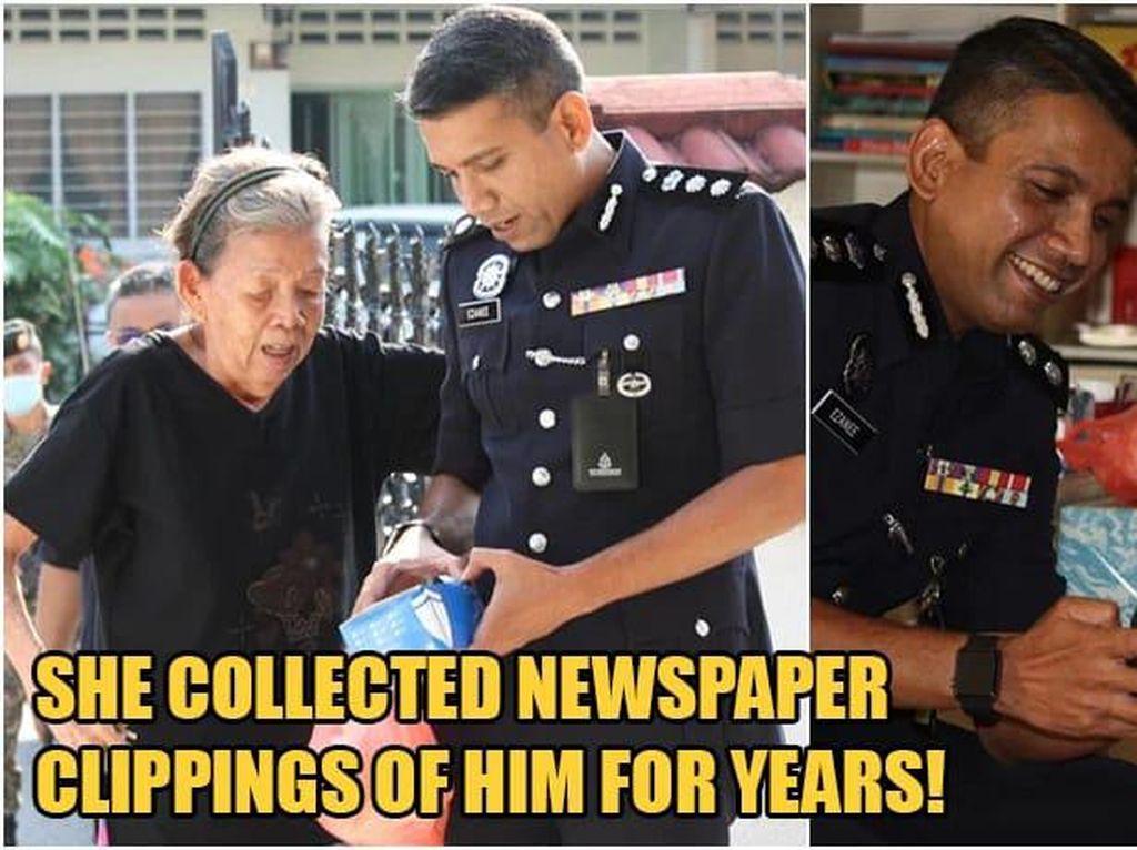 Polisi Ini Kenang Kebaikan Wanita yang Beri Ia Bakpao 30 Tahun Lalu