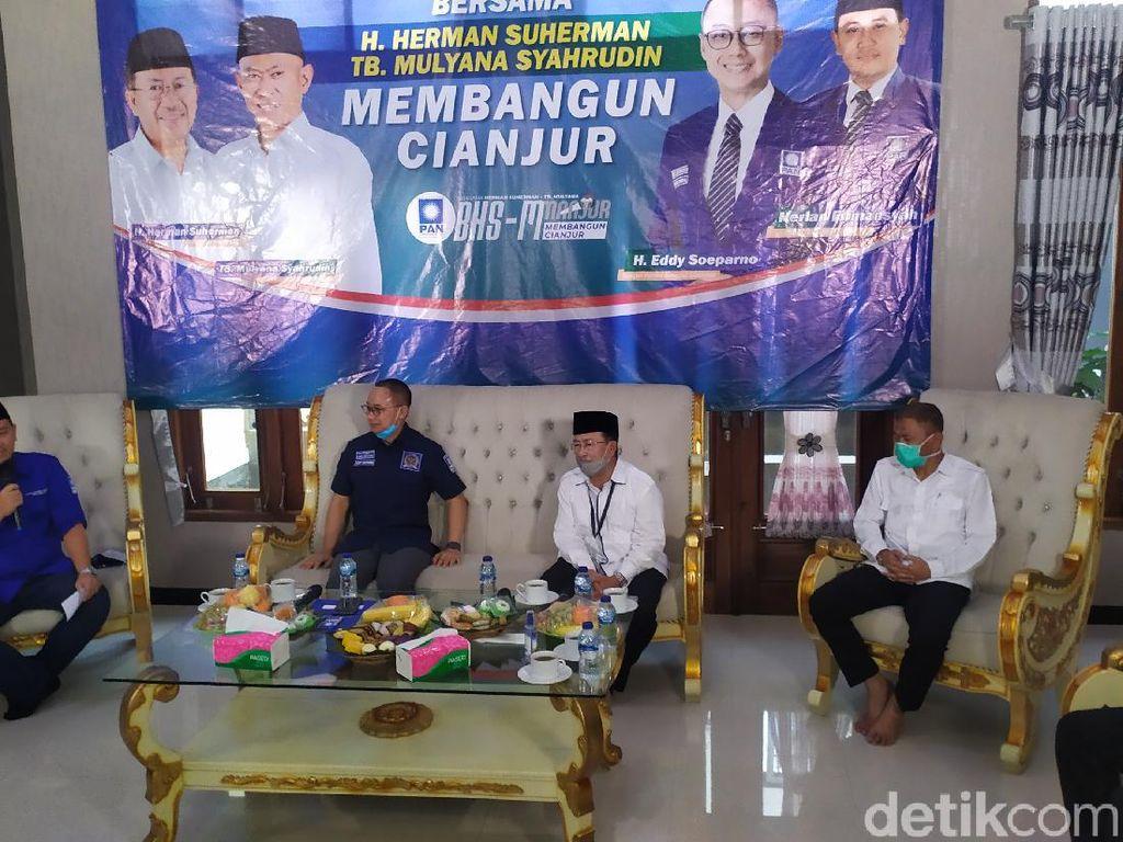 PAN Resmi Usung Herman-Tb  Mulyana di Pilbup Cianjur