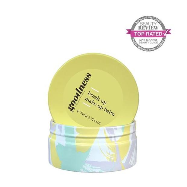 Goodness Break-up Make-up Balm merupakan produk cleansing balm vegan yang mengandung beragam kandungan bahan alami bernutrisi untuk kulit.