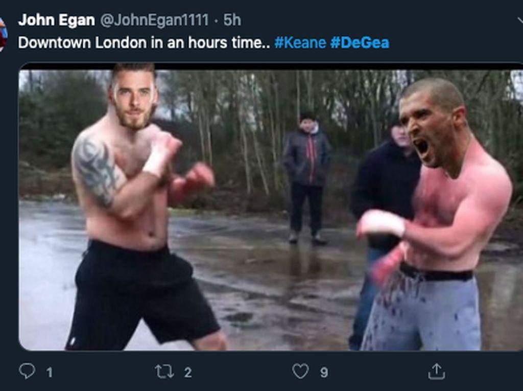 Ramai Meme De Gea, Termasuk Baku Hantam sama Roy Keane