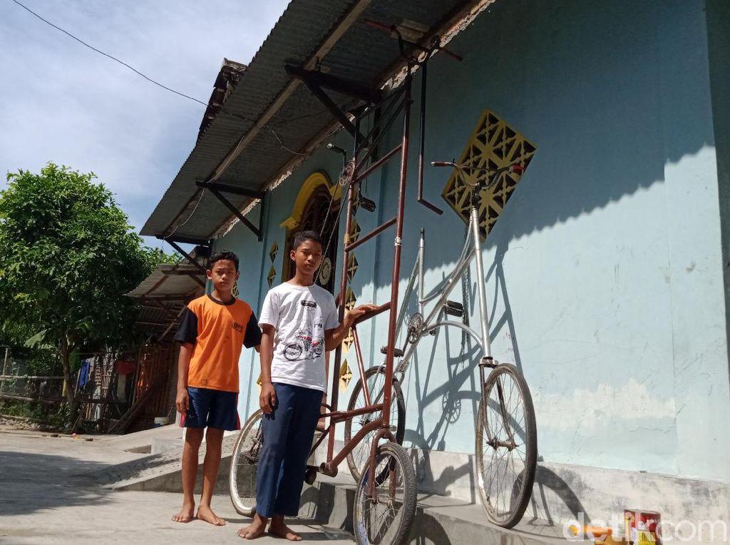 Kreatif! ABG Ini Bikin Sepeda Setinggi 3,5 Meter Buat Gowes Saat Pandemi