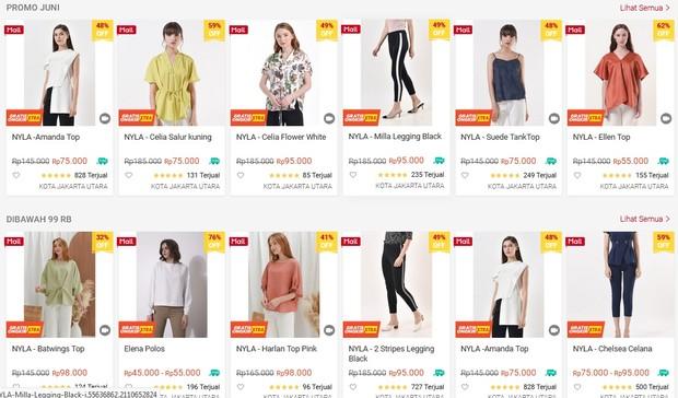 ragam pilihan fashion atasan dan bawahan dengan desain menarik ada di N.y.L.a