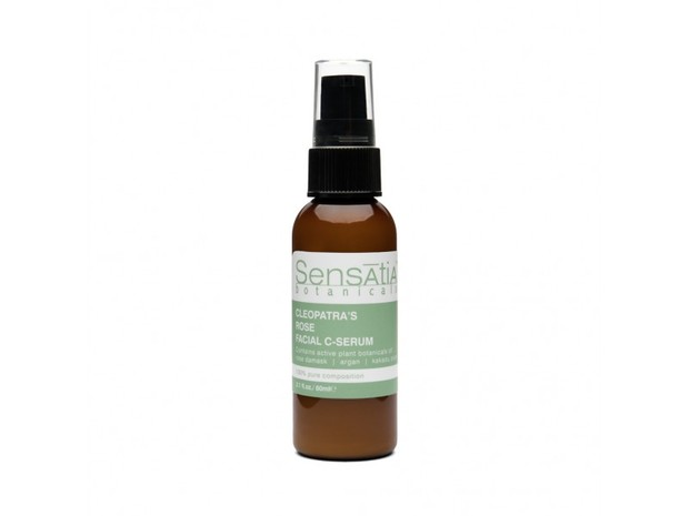Pilihan produk Sensatia Botanicals Facial C-Serum yang mencerahkan dan melembapkan kulit wajah.