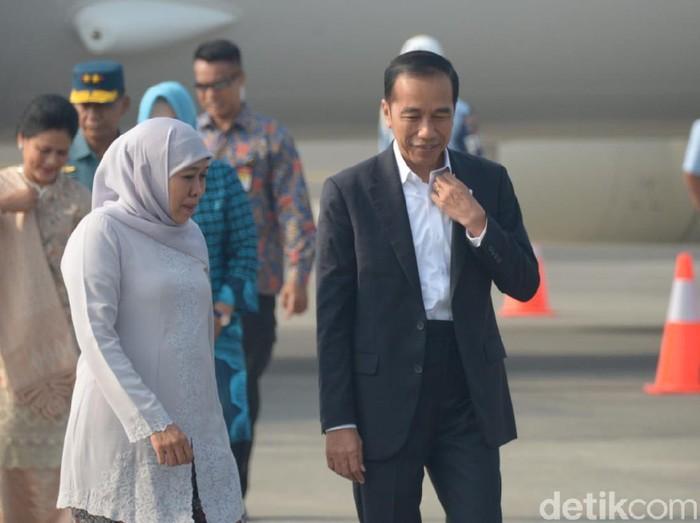 Gubernur Khofifah dan Jokowi