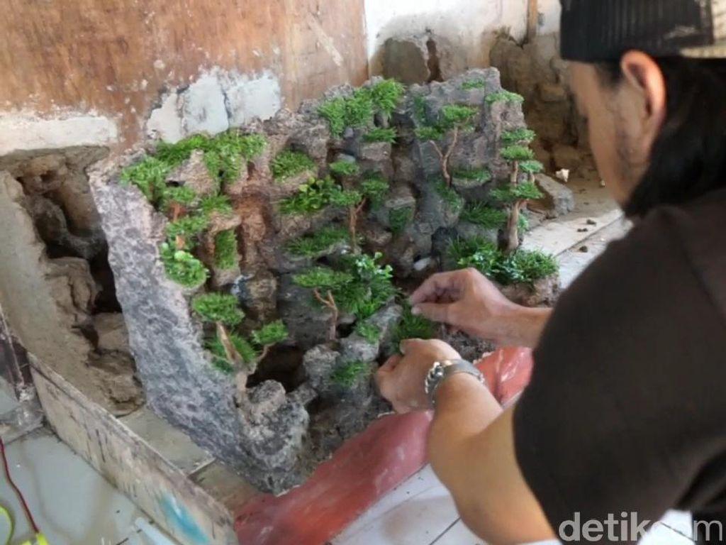 Karya Seni Pria Asal Purwakarta Berhasil Hadirkan Air Terjun Dalam Rumah