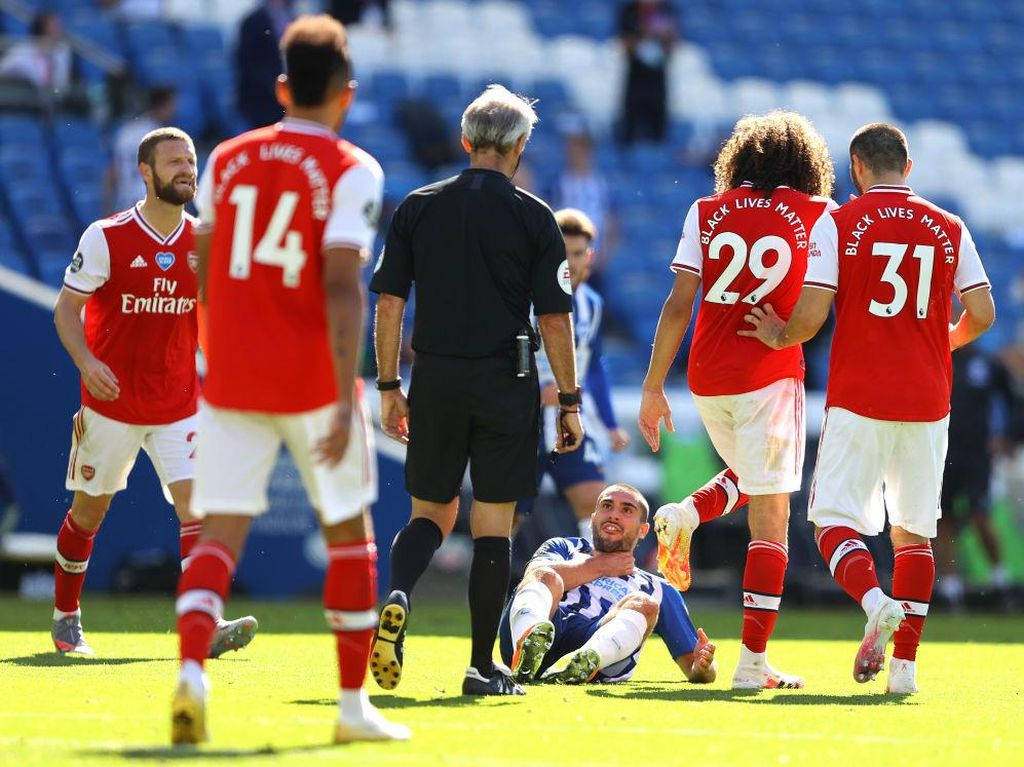 Akhir Brighton Vs Arsenal: Guendouzi Cekik Maupay