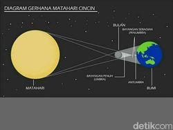 Catat, Ini Waktu Gerhana Matahari Cincin Terlihat di Langit Surabaya