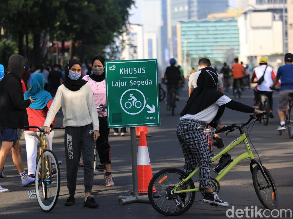 Tutup-Buka Kawasan Pesepeda Jakarta Hanya Berselang 2 Pekan