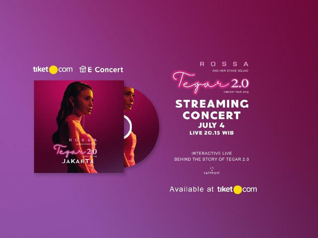 Rossa Gelar Konser Streaming Tegar 2.0, Catat Tanggalnya!