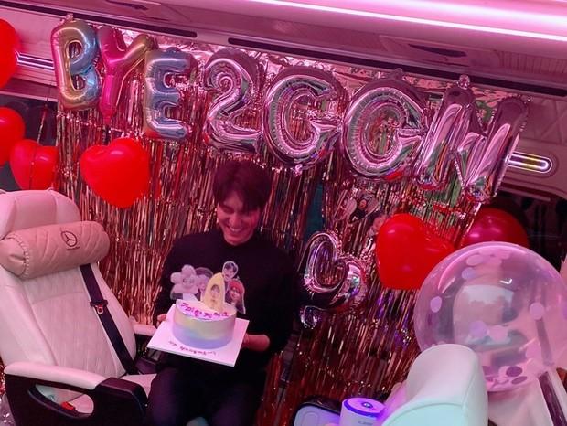 Lee Min Homerayakan ulang tahun yang ke-34 tahun.