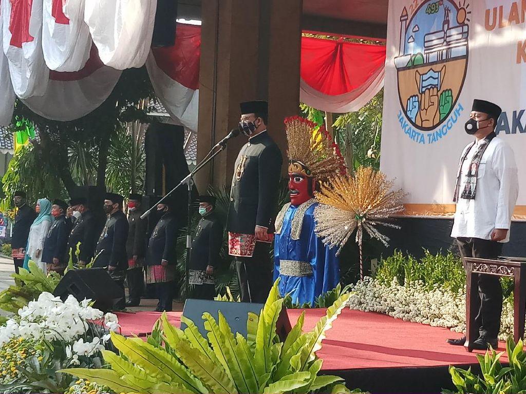 Pimpin Upacara HUT Ke-493 DKI, Anies Yakin Jakarta Mampu Lewati Pandemi Corona