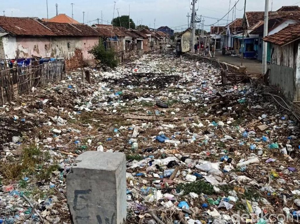 Jijik! Sungai di Pasuruan Tertutup Sampah