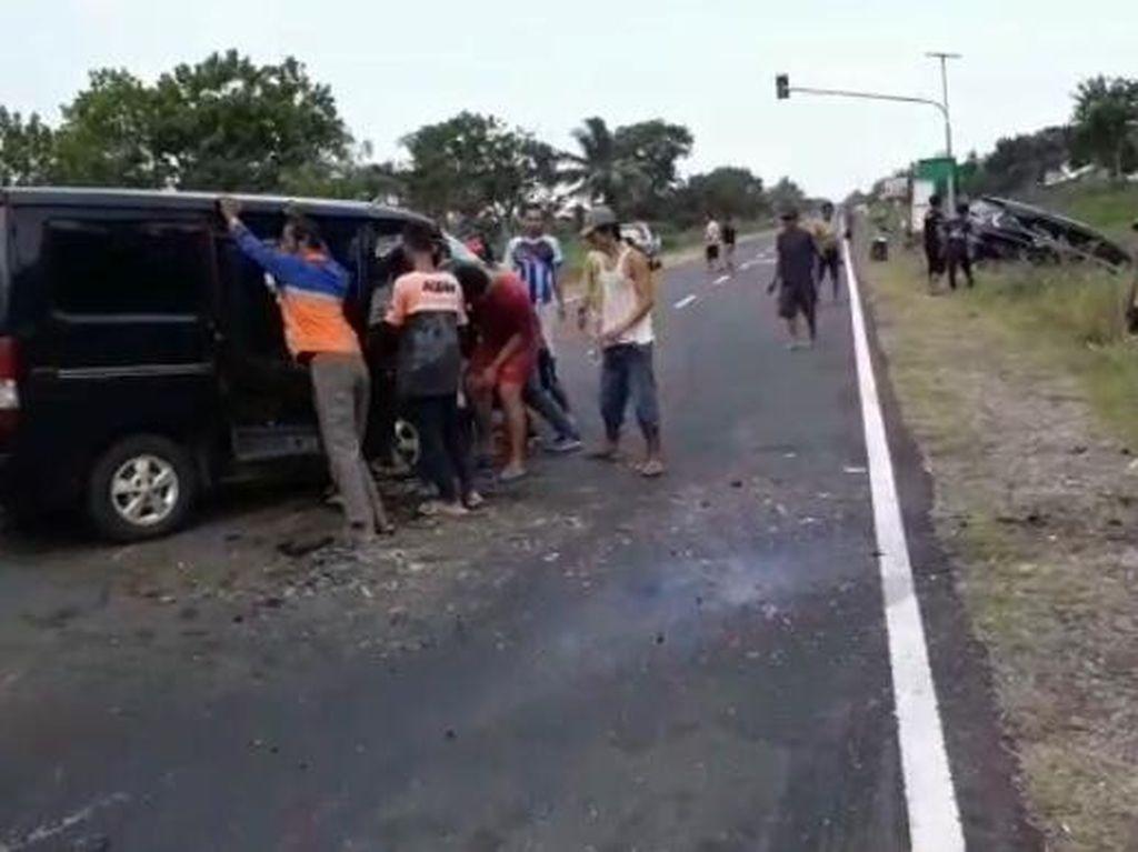Kecelakaan 3 Mobil di Jalur Selatan Kebumen, 1 Tewas dan 5 Luka