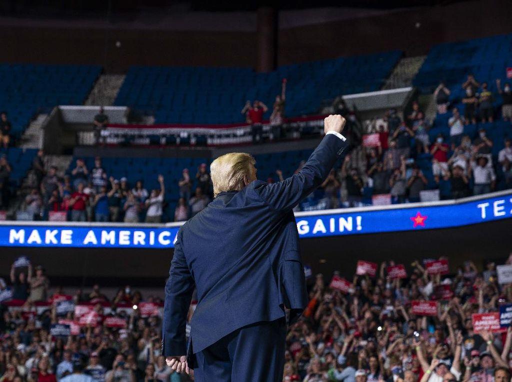 Kasus Corona di Kota Tulsa Melonjak Usai Acara Kampanye Trump