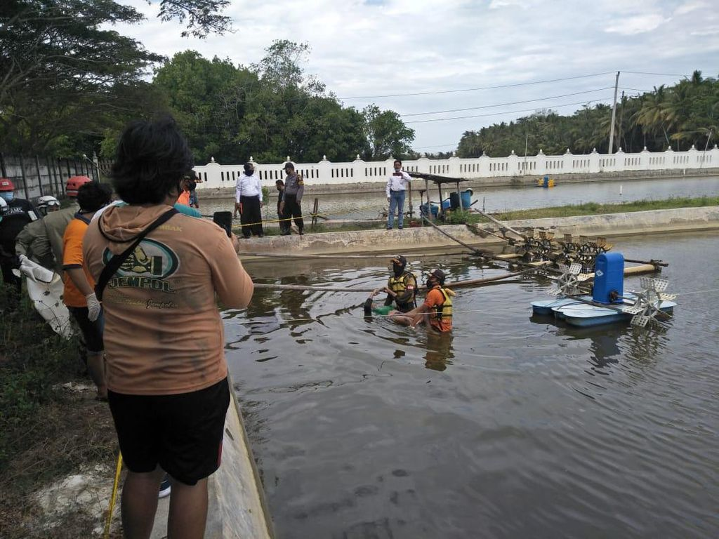 Pria Ini Tewas Diduga Kesetrum Saat Perbaiki Kincir Air Tambak Udang