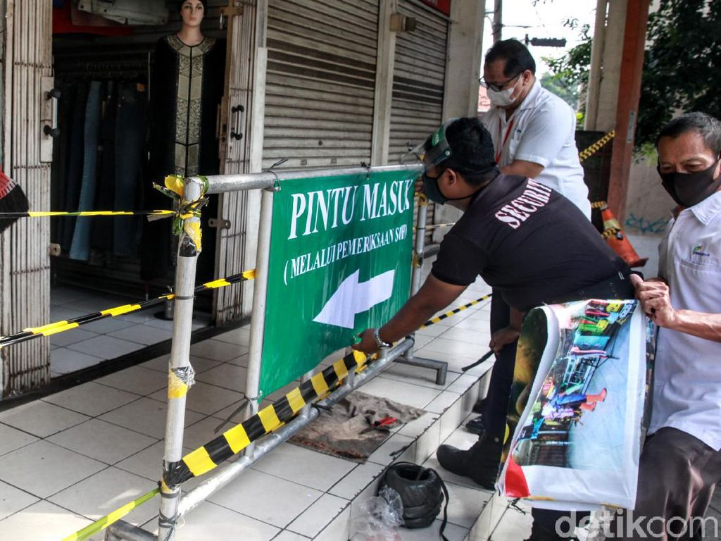 15 Pasar di Jakarta Terpapar Corona, 22 Lainnya Tunggu Hasil Tes Swab
