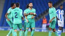 Kalahkan Sociedad, Madrid Gusur Barcelona dari Puncak LaLiga
