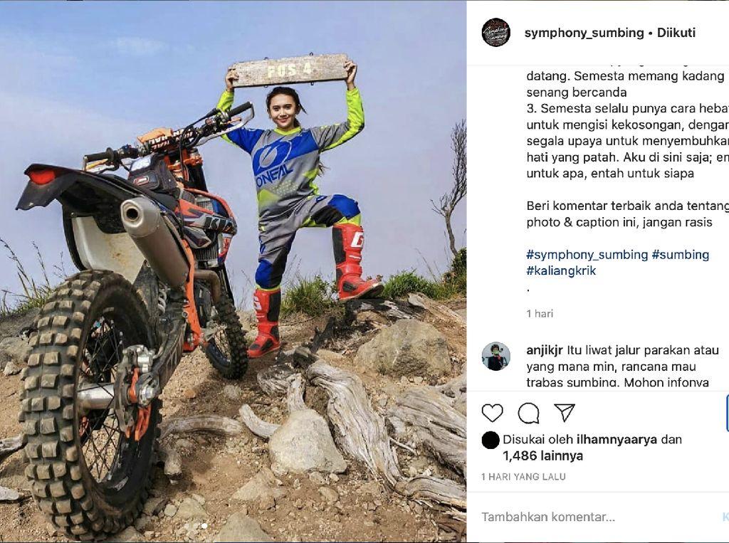 Doni Tata dan Crosser Cantik Disentil Gegara Trabas Gunung Sumbing