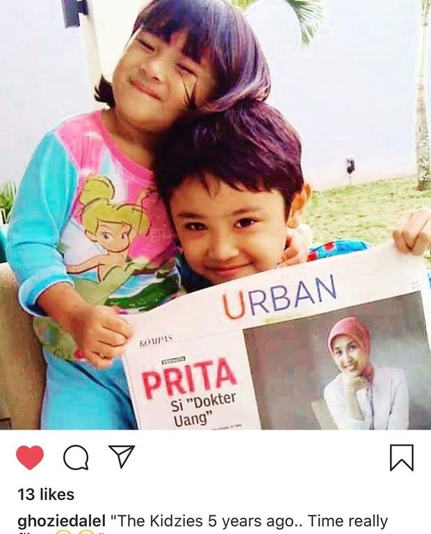 Kedua anak Prita Hapsari bangga, bundanya tampil di koran.