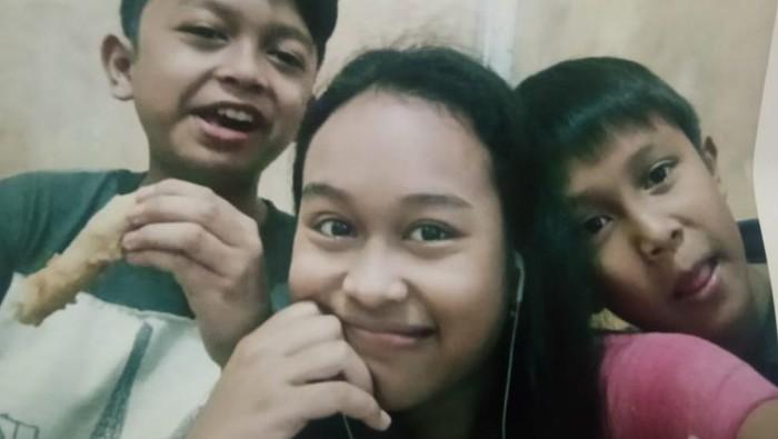 Ketiga anak Rachmat yang hilang di Palembang (dok Istimewa)