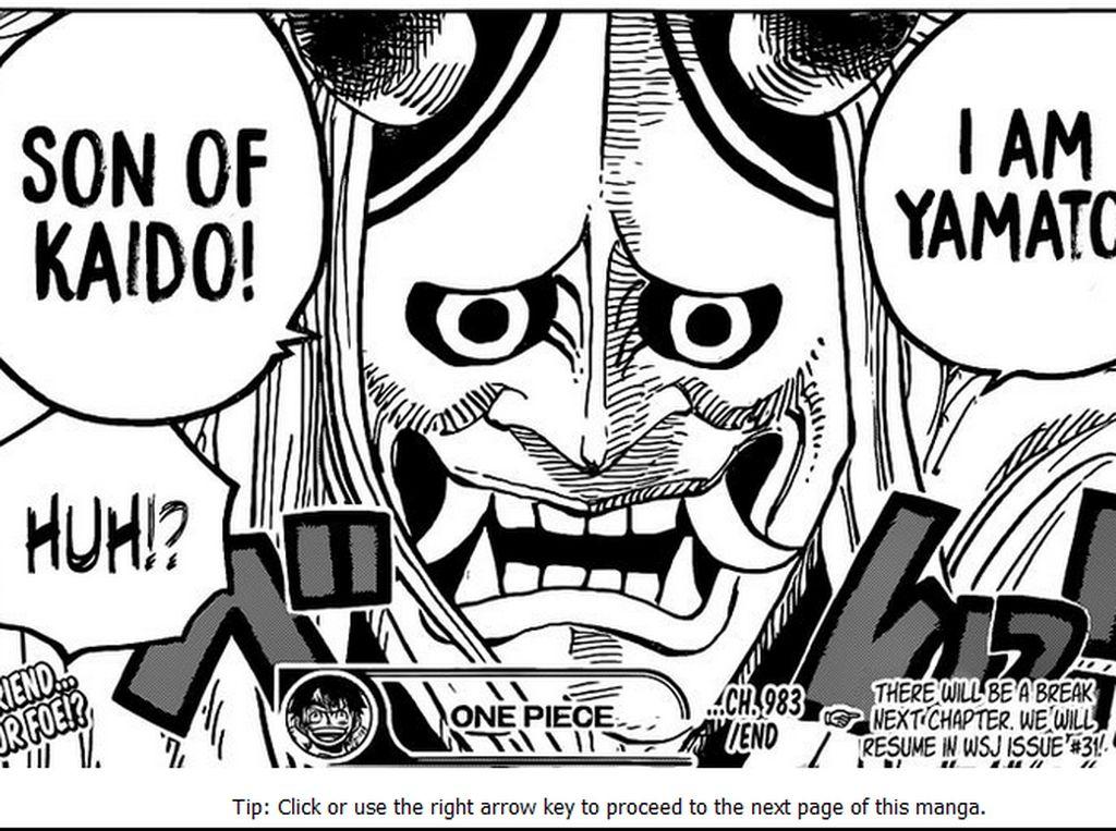 One Piece 996 Pamer Kekuataan Terkuat dari Yamato