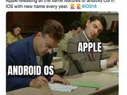 Meme Pengguna Android Tertawakan iOS 14