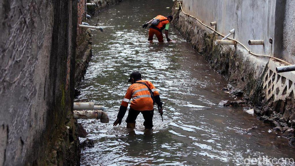 Semangat Pasukan Oranye Bersihkan Sungai di Tengah Pandemi