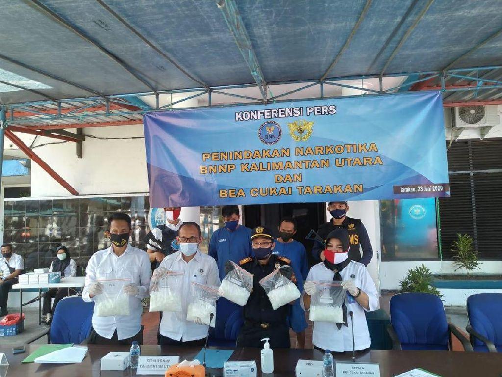 Selundupkan Sabu 6 Kg dari Malaysia, 2 Pria Dibekuk di Perairan Tarakan