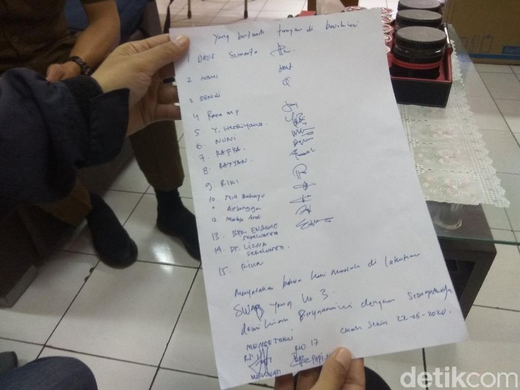 Warga Cimahi yang Tolak Swab Test Ketiga Tandatangani Surat Pernyataan