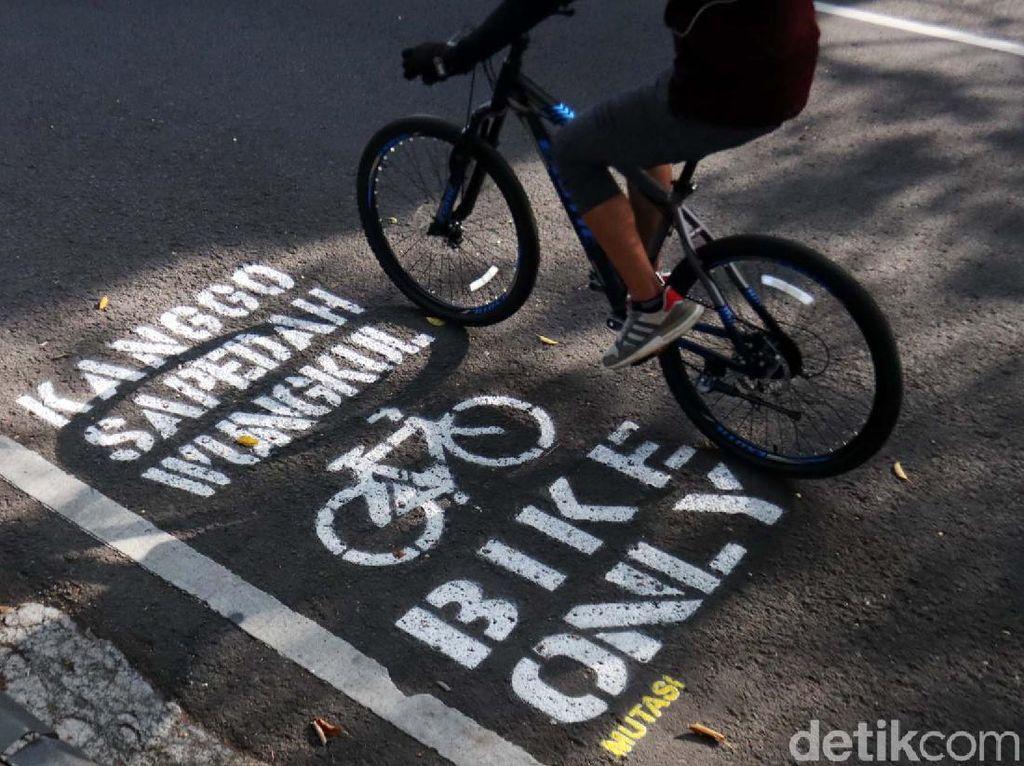 Begini Lho Jalur Sepeda di Pusat Kota Bandung
