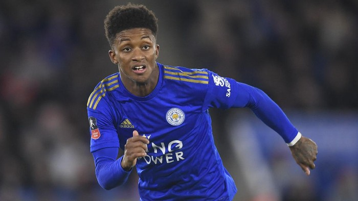 LEICESTER, ENGLAND - JANUARY 04: Demarai Gray of Leicester in action during the FA Cup Third Round match between Leicester City and Wigan Athletic at The King Power Stadium on January 04, 2020 in Leicester, England. (Photo by Michael Regan/Getty Images)