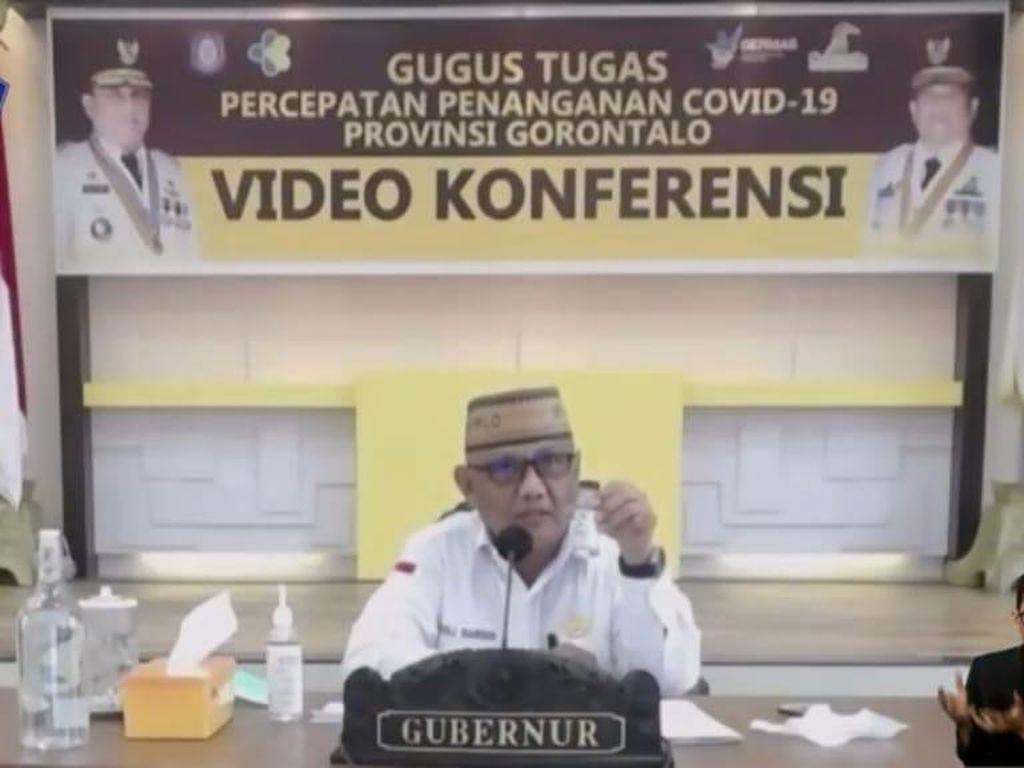 Gubernur Gorontalo Pamer Sofi, Hand Sanitizer dari Miras Cap Tikus Sitaan
