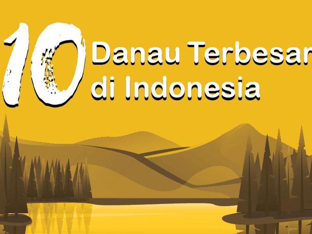 Infografis: 10 Danau Terbesar di Indonesia