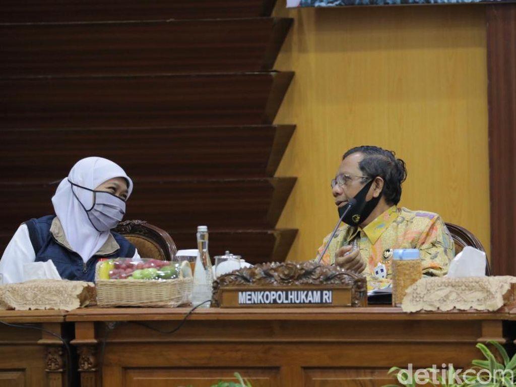 Khofifah Sebut Tingkat Kepatuhan Protokol COVID-19 Surabaya Raya Rendah