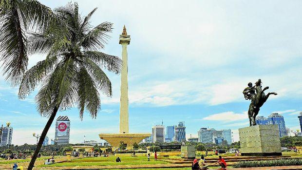 Jakarta, Indonesia - December,2012: Merdeka square panorama. Famous landmark