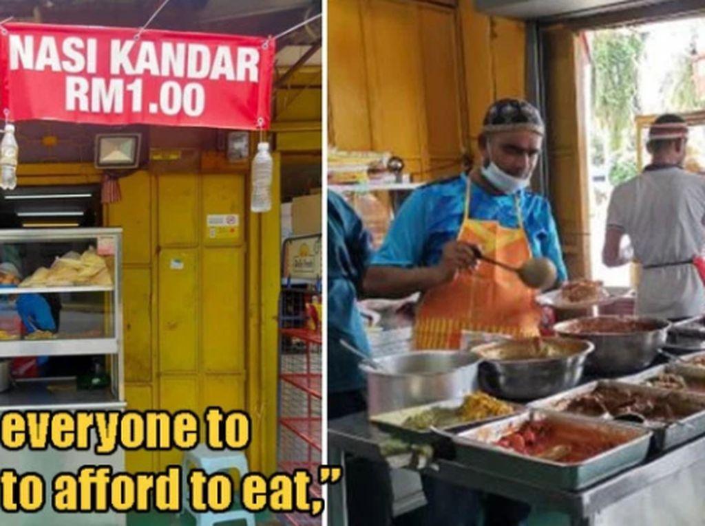 5 Penjual Makanan Ini Tawarkan Harga Seribuan Demi Bantu Orang Susah