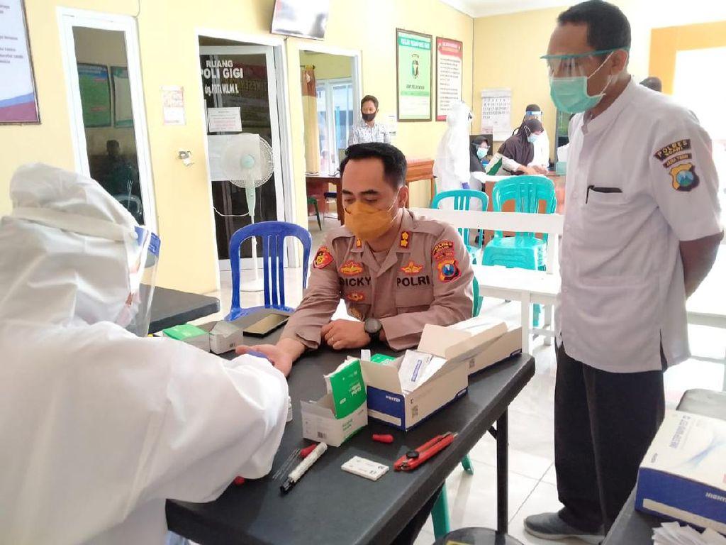 139 Polisi dan Driver Online di Ngawi Rapid Test, Hasilnya Nonreaktif