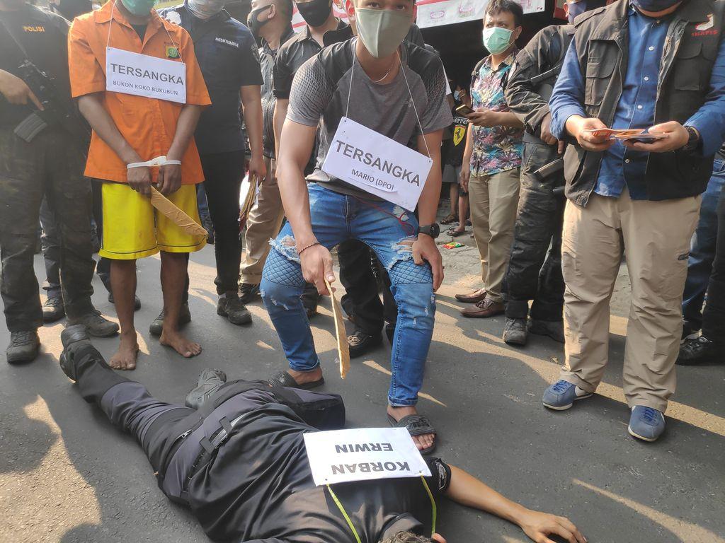 Rekonstruksi penyerangan anak buah John Kei di Duri Kosambi, Jakbar