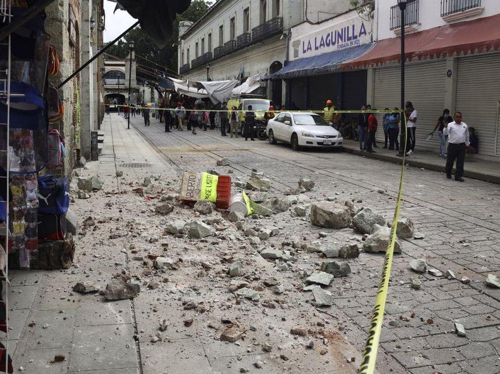 Bertambah, Korban Tewas Gempa M 7,4 di Meksiko Jadi 7 Orang
