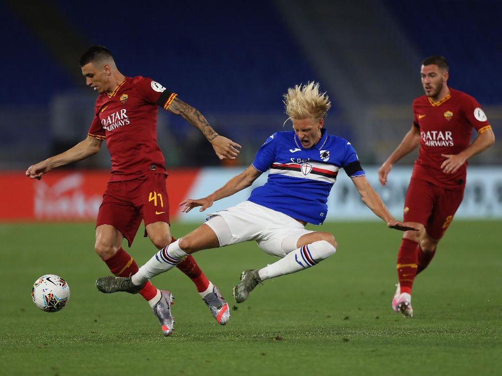 AS Roma Vs Sampdoria: Brace Dzeko Menangkan Giallorossi 2-1