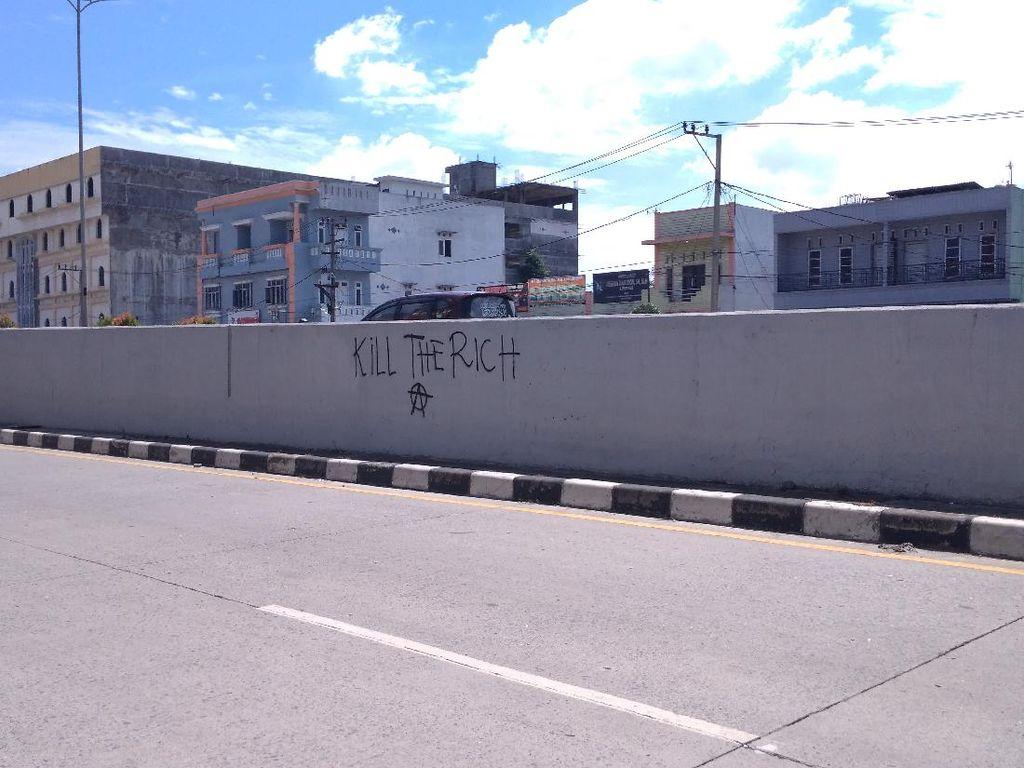 Muncul Vandalisme Kill The Rich di Medan, Pemko Turun Tangan