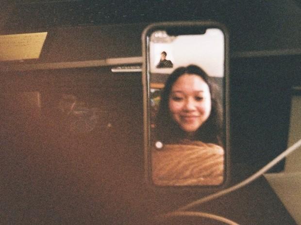 Potret cantik Zidny Lathifa saat video call