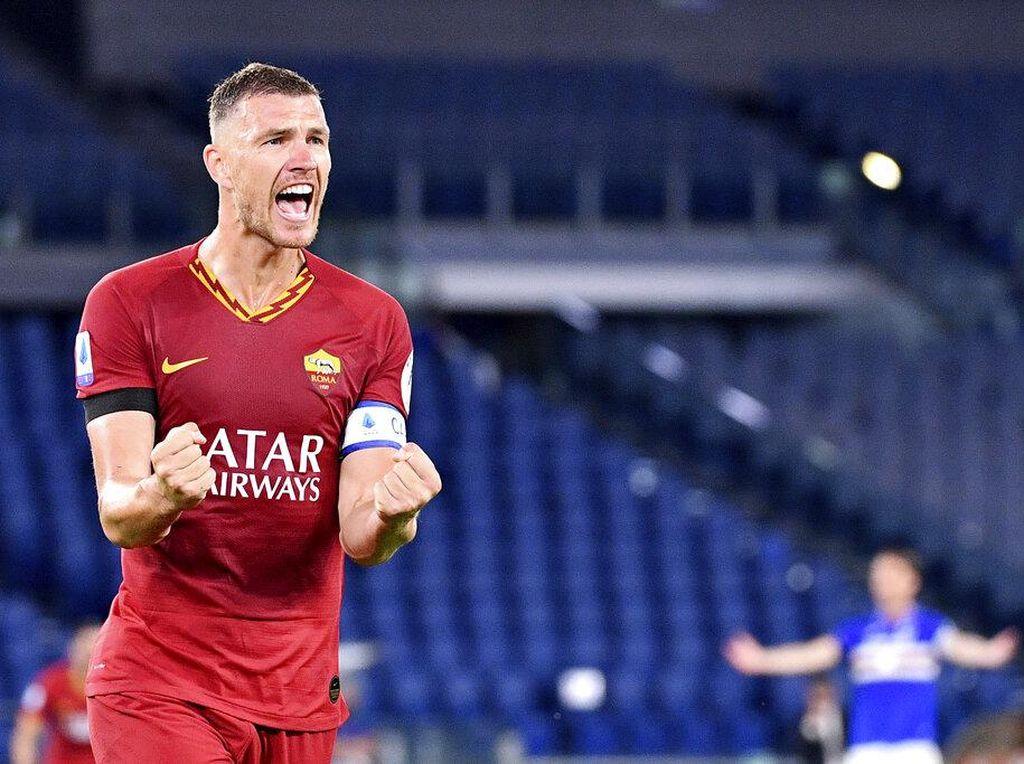 Roma Vs Sampdoria: Untung Ada Edin Dzeko