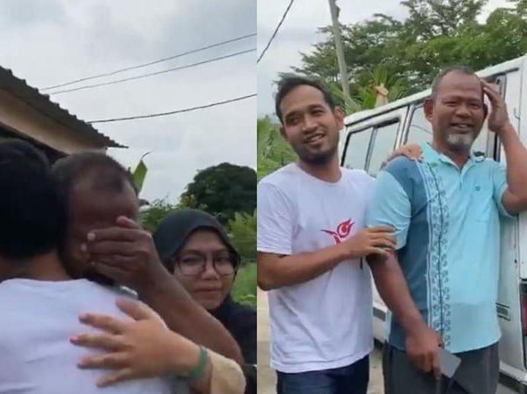 Haru! Penjual Es Krim Ini Menangis Dapat Hadiah Mobil dari Anaknya