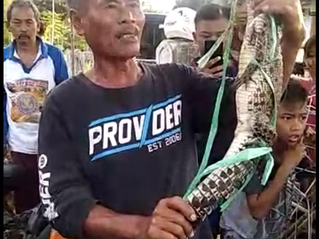 Strike! Pemancing Ini Dapat Buaya di Waduk Jati Gede