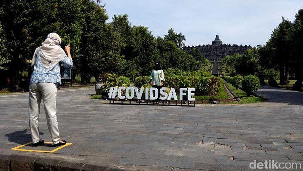 Sepinya Candi Borobudur saat Uji Coba Pembukaan