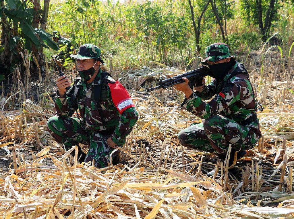 TNI AU Latihan Pertahanan Pangkalan di Detasemen Raci
